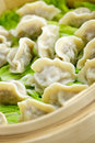 Bamboo Steamer With Dumplings Royalty Free Stock Photo - 13198385