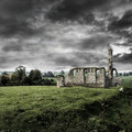 Ruined Church Under A Stormy Sky Royalty Free Stock Photo - 13222805