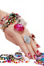 Jewelery In Hand Royalty Free Stock Image - 13225616