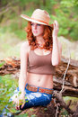 Woman With Cowboy Hat Royalty Free Stock Photo - 13238885