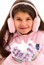 Girl And Snow Royalty Free Stock Photo - 13240695