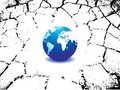 Planet Earth Map With Crack Royalty Free Stock Photography - 13242557