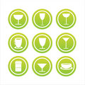Set Of 9 Drink Signs Royalty Free Stock Photo - 13285855