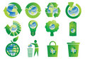 Recycle Buttons With Earth Globe Stock Photo - 13286980
