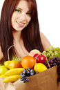 Woman With Fruits And Vegetables. Stock Photos - 13300693