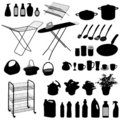 Kitchen Objects, Silhouette  Stock Photo - 13308880