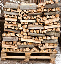 Stack Of Firewood Royalty Free Stock Photography - 13322127