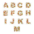 Floral Alphabet [A - M] Set Royalty Free Stock Photography - 13329667