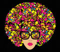 Bright Multi-coloured Fashion Illustration. Royalty Free Stock Images - 13346249