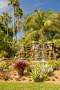 Waterfall In Tropical Garden Royalty Free Stock Photography - 13354517