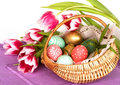 Easter Eggs Basket Stock Photography - 13357282