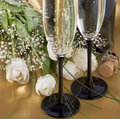 Champagne And Flowers Royalty Free Stock Photos - 13367448