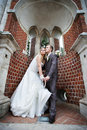 Happy Bride And Groom In A Beautiful Arch Stock Image - 13372011