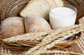 Rolls, Bread And A Glass Of Milk Royalty Free Stock Image - 13372626