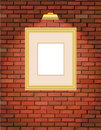 Old Brick Wall With Gold Frame Stock Photography - 13375022