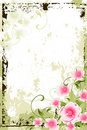 Grunge Floral Background Royalty Free Stock Photos - 13377438