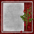 Card For The Holiday With Red Rose Stock Photos - 13383153