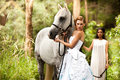 Young Women With Horse Stock Photo - 13389100