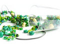 Green Beads Royalty Free Stock Images - 13397419