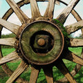 Antique Country Wagon Wheel Royalty Free Stock Photo - 1341495