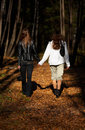 Girls Walking In The Forest Stock Image - 1347451