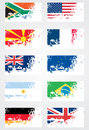 Grunge Flag Set Royalty Free Stock Image - 13410876