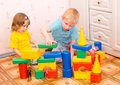 Children Play With Toys Royalty Free Stock Photo - 13414575