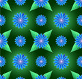 Blue Flowers Seamless Background Royalty Free Stock Photo - 13415175