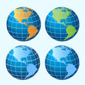 Globes Showing America Continents Royalty Free Stock Photos - 13420608