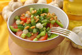 Salad With Spring Onion In A Bowl Royalty Free Stock Photo - 13427725