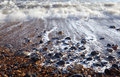 Wave Sea Pebble Beach Royalty Free Stock Photos - 13440788