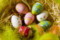 Easter Eggs In A Nest Royalty Free Stock Photography - 13441867