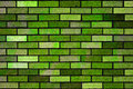 Green Bricks Wall Background Texture Stock Image - 13445841