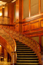 Beautiful Curving Stairs And Opulent Paneling Royalty Free Stock Images - 13451259