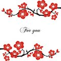 Postcard With Flowering Branches. Royalty Free Stock Photography - 13464177