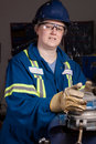 Woman In Male Type Job Stock Images - 13470194