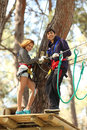 Couple In Adventure Park Stock Images - 13471584