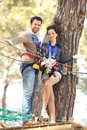 Couple In Adventure Park Royalty Free Stock Photos - 13471998