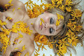Women And Flower Stock Images - 13472394
