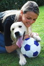 Soccer Dog Royalty Free Stock Photo - 13501665