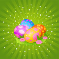 Beautiful Easter Eggs Background Royalty Free Stock Photo - 13502425