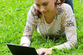 Young Girl  With Laptop Stock Photography - 13512982