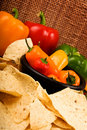 Green Yellow Red And Orange Bell Peppers Royalty Free Stock Photo - 13518205