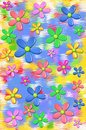 3d Daisies Fun Colors Two Stock Images - 13531304