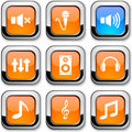 Audio Icons. Royalty Free Stock Photography - 13550177