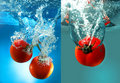 Red Tomatoes In Water Royalty Free Stock Photos - 13555108