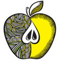 Decorative Apple From A  Pattern Royalty Free Stock Photography - 13557067