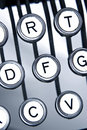 Old Typewriter Keytops Royalty Free Stock Photography - 1365807