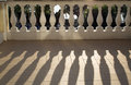 Balustrade Casting Shadows In Sunshine Stock Images - 1369064
