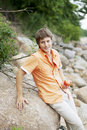 Portrait Of A Cute Guy On The Nature Royalty Free Stock Photo - 13607435